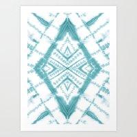 Dye Diamond Sea Salt Art Print