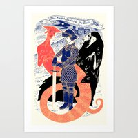 The Knight, Death, & The… Art Print