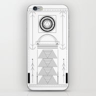 iPhone & iPod Skin featuring Cirquit Blank by .eg.