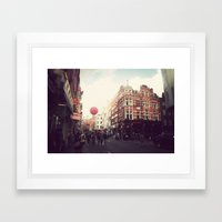 Chinatown , London. Framed Art Print
