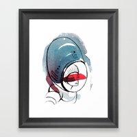 Astro Dame Framed Art Print
