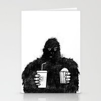 Bigfoot at the movies Stationery Cards