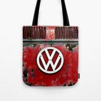 VW Retro Red Tote Bag