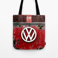 VW Retro Red Tote Bag