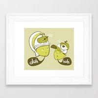 Pea Brain Patty and Bird Brain Bimmy Framed Art Print
