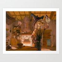 The witch / La sorcière Art Print