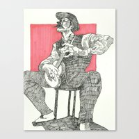Fighting Through Canvas Print
