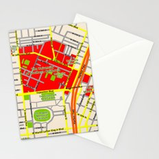 Map design of the University of southern California, LA Stationery Cards