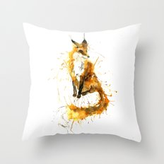 Bushy Tailed Throw Pillow