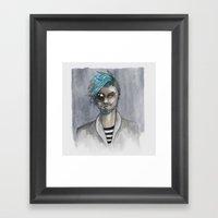 Bearded Framed Art Print