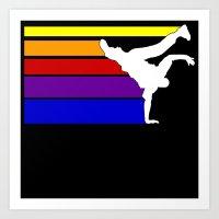 BBOY Rainbow Lines Art Print