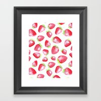 Summer Berries Framed Art Print