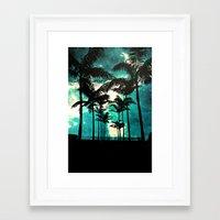 Palm Trees & Stars Framed Art Print