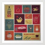 Vintage Food Collage Old… Art Print