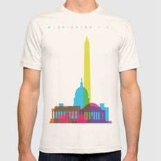 Shapes Of Washington D.C… Mens Fitted Tee Natural SMALL