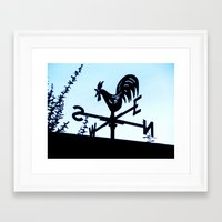 Which direction, please? Framed Art Print