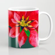 Christmas Poinsettia Mug