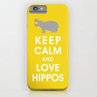 Keep Calm and Love Hippos iPhone 6 Slim Case