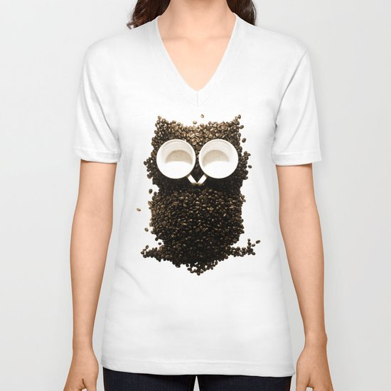 Hoot! Night Owl! V-neck T-shirt