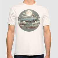 Ocean Meets Sky Mens Fitted Tee Natural SMALL