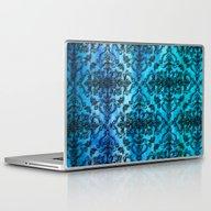 Black Filigree Pattern O… Laptop & iPad Skin
