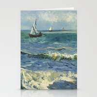 Seascape near Les Saintes-Maries-de-la-Mer by Vincent van Gogh Stationery Cards