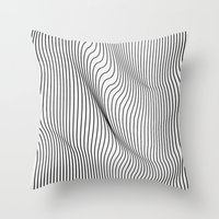 Minimal Curves Throw Pillow