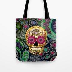 Sugar Skull Paisley Gard… Tote Bag