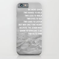iPhone & iPod Case featuring We were given by Mrs Hardy