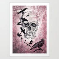 The Crows of Death Art Print