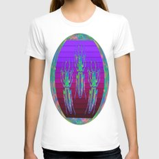 Decorative  Opal Beetle… Womens Fitted Tee White SMALL