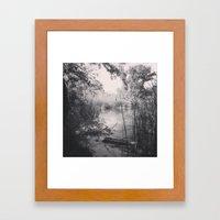 We Happened Upon A Lake Framed Art Print