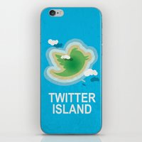 Twitter Island iPhone & iPod Skin