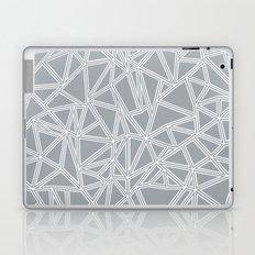 Shattered Ab Grey and White  Laptop & iPad Skin
