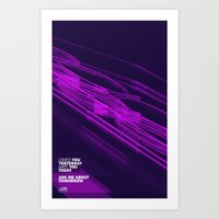The Love Series 200 Purple Art Print