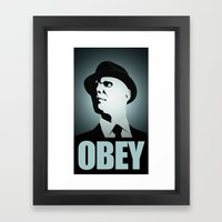 OBEY (Fringe) Framed Art Print