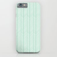 Herringbone Mint iPhone 6 Slim Case