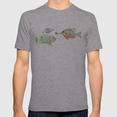 Fishes  Mens Fitted Tee Athletic Grey SMALL