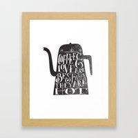 COFFEE & LOVE Framed Art Print