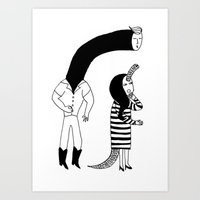 Secret Kiss Art Print