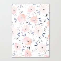 pink watercolors Canvas Print