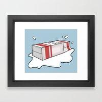 Spilt Milk Framed Art Print