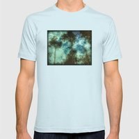 Forest Memories Mens Fitted Tee Light Blue SMALL
