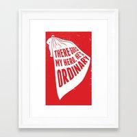 lyric Poster - My Hero Framed Art Print