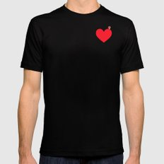 YOU ARE HERE SMALL Black Mens Fitted Tee