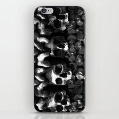 Skulls - Paris Catacombs, black and white version iPhone & iPod Skin