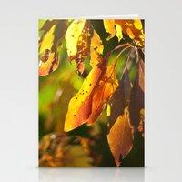 Autumn Sassafras  Stationery Cards