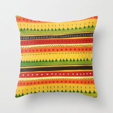 Pattern Doodle (Yellow) Throw Pillow