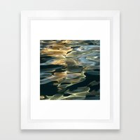 Water / H2O #42 (Water Abstract) Framed Art Print
