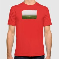 Foggy Landscape - JUSTAR… Mens Fitted Tee Red SMALL